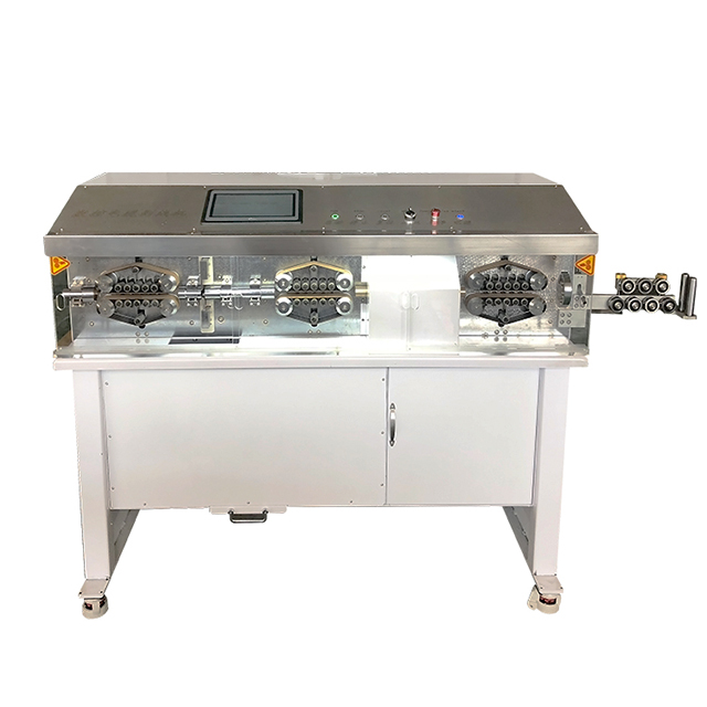 Large Gauge Cable Cutting and Stripping Machine with Rotary Knife