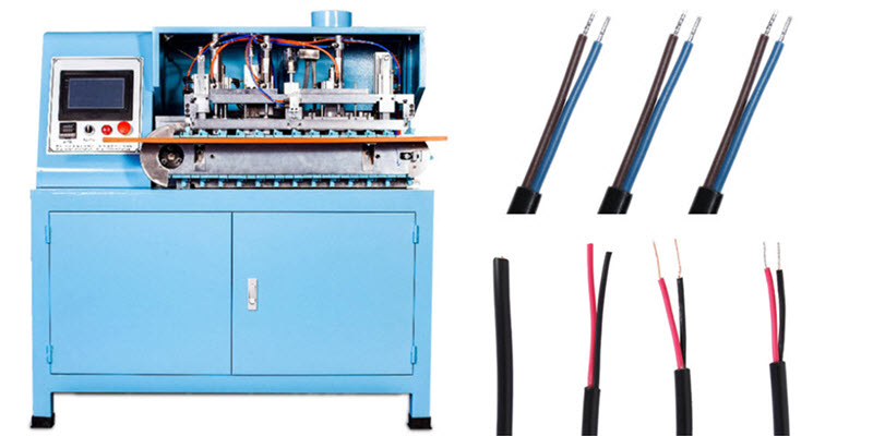 multi-core cable cutting stripping and twisting tinning machine