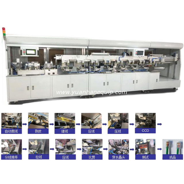 Fully Automatic Network Cable Assembly Line