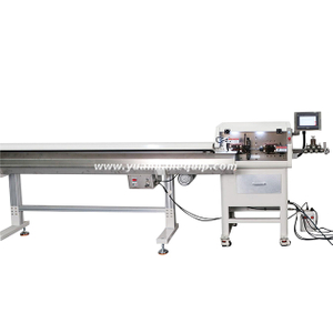 Cable Cutting & Stripping Machine with Wire Take-up Device