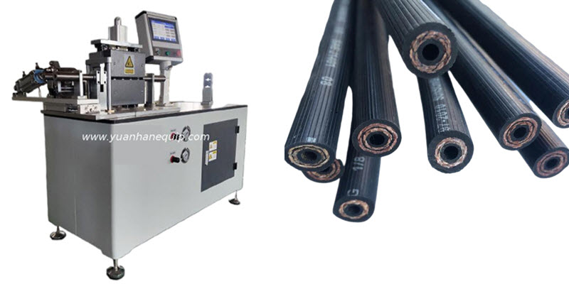 Silicone Hoses, PVC Braided Hoses and Viton Hoses Cutting Machine