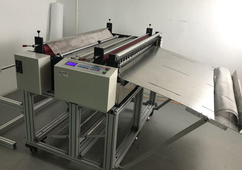 Stainless Steel Woven Wire Mesh Roll to Sheet Cutting Machine