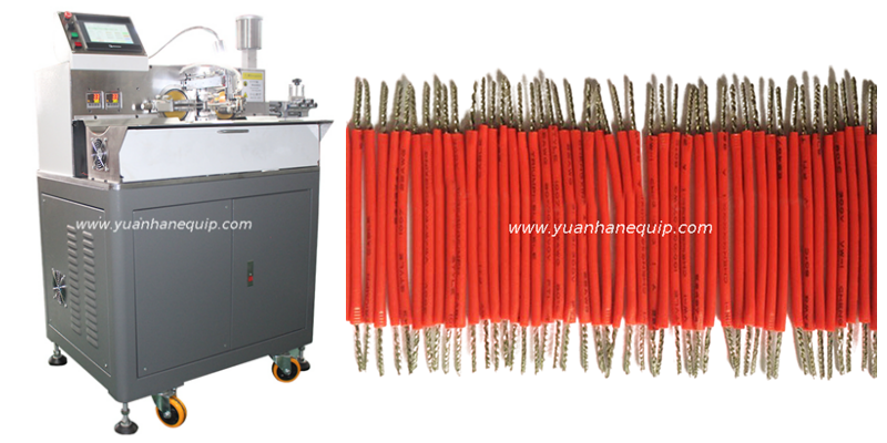 Auto Wire Cutting Stripping , Twisting and Tinning Machine