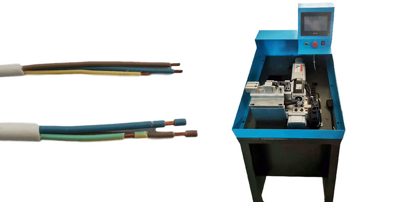 Variable Length Multi-core Cable Stripping Machine