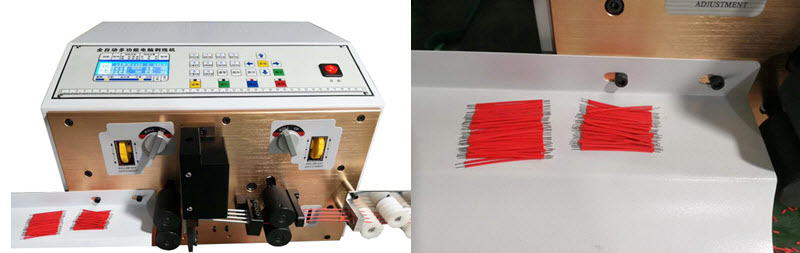 Machine that can cut multiple wires at the same time