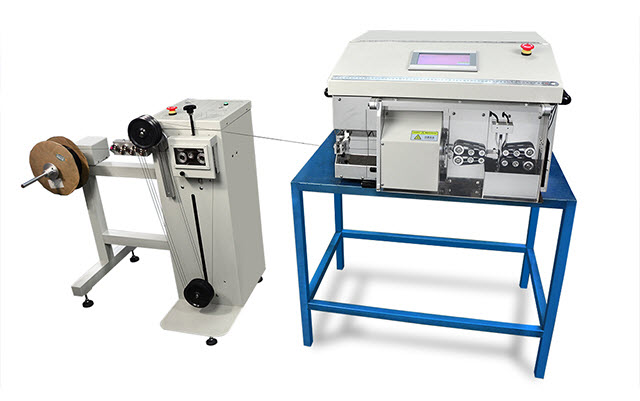 Coax Cable Stripping Machine with Tension-free Wire Prefeeding Machine