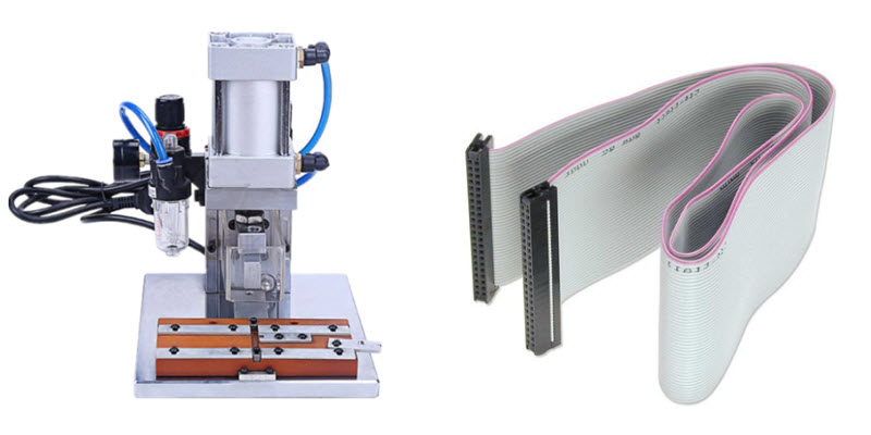 Flat Ribbon Cable Ferrules Connector Crimping Machine