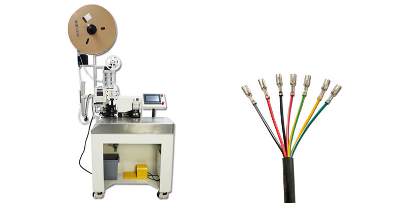 7 Cores Cable Inner Wire Stripping and Crimping Machine